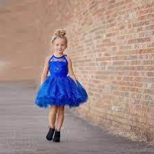 aliexpress royal blue short flower girl dresses organza