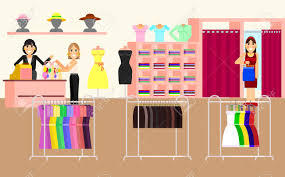 Woman Clothes Shop And Boutique Shopping Fashion Bags Accessories