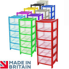 Plastic Drawers On Wheels by Crazygadget Plastic Large Tower Storage Drawers Chest Unit With