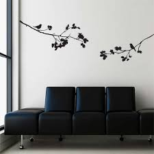 plants and wall decal nature scene realistic wall decals ideas