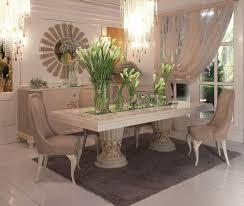 rechteckiger tisch klassischen luxus esszimmer idfdesign