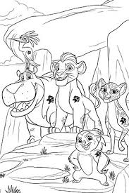 The Lion Guard Colouring Sheet 1
