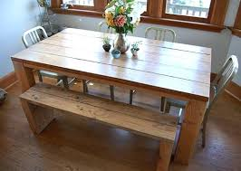 Diy Dining Room Table With Bench Captivating Plans Go