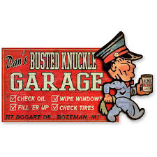 Personalized Full Service Garage Shop Sign