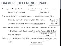 Examples Of Reference Page For Resume Samples Collection Solutions Writing Format