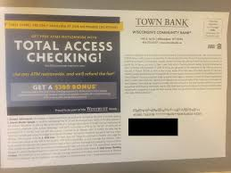 Town Bank Checking Bonus: $300 Promotion (WI) Roundup Of Bank Bonuses 750 At Huntington 200 From Chase Total Checking Coupon Code 100 And Account Review Expired Targeting Some Ink Cardholders With 300 Brighton Park Community Bonus 300 Promotion Palisades Credit Union Referral 50 New Is It A Trap Offering Just To Open Checking Promo Codes 350 500 625 Business Get With 600 And Savings Accounts Handcurated List The Best Sign Up In 2019 Promotions Virginia