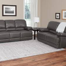 100 Cor Sofas Living Lea 2Piece Brownish Grey Bonded Leather Power Recliner