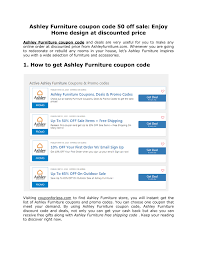 Ashley Furniture Coupon Code 50 Off Sale.docx | DocDroid Ps4 Pro Coupons Kalahari Resort Sandusky Ohio Directions Cycle House Promo Code Weight Watchers Waive Sign Up Fee Brilliant Book West Elm Coupon Uk Yoox May 2018 American Giant Clothing White Black Can I Reuse K Cups 37 Off Babbittsonlinecom Promo Codes 10 Babbitts My Sister Asked For A Pas In The House House Of Cb Discount Codes Wethriftcom Mod Pizza Buy One Get Cloud 9 Hair Moving Sale Coupon Code Moving35 Brickhouse Fabrics Etude 50 Off Regular Priced Items Free Us Shipping The Wwe Shop