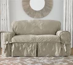 Sure Fit Scroll T Cushion Sofa Slipcover by Sure Fit Matelasse Damask Sofa Slipcover Page 1 U2014 Qvc Com