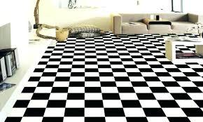 Checker Floor Tiles Black And White Checkered Linoleum Roll