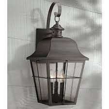 quoizel millhouse 22 high black outdoor wall light 5f666