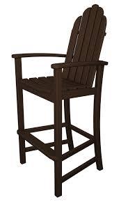 amazon com polywood adirondack bar height chair mahogany