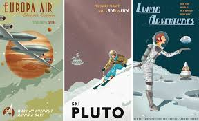 Intergalactic Travel Posters By Steve Thomas Courtesy Guerilla Science