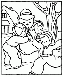 Free Winter Coloring Pages For Kids Print Free Winter Coloring