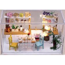 Amazoncom Goody Kits DIY Wood Miniature Dollhouse With Furniture