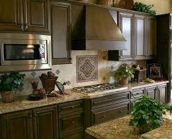 Kitchen Backsplash Ideas With Dark Oak Cabinets by Kitchen Backsplash Ideas With Dark Cabinets Rooms