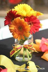 Fire Truck Flower Centerpieces Boot Sun And Dalmatian Diy Easy Centerpiece For We Filled Some Little