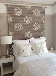 Bamboo Headboards For Beds by H Headboard Idea Rug Tapestry Or Heavy Fabric Would Help With