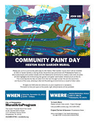 Philly Mural Arts Events by Saturday See Gsi Being Made And Contribute To Art In Hestonville