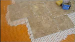 Trowel Size For 12x24 Tile by How To Install Pinwheel Pattern Kitchen Ceramic Tile Floor Youtube