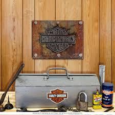 harley davidson motorcycles plate tin sign vintage garage signs