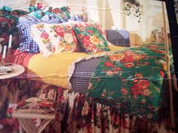 Very Rare Ralph Lauren Vintage Melissa Green Floral Full Queen 4pc Comforter Set
