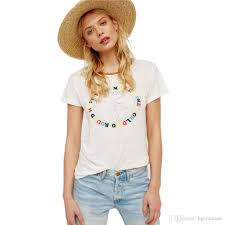 American Apparel T Shirt Women Flash Deals Summer Vogue Bts Feminist Tumblr Mesh Embroidery Tops Teen Girl Power Clothing Buy Shirts Online From