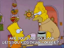 3F04 Treehouse Of Horror VI Which Might Be My Favorite When Bart Lisa And Maggie Try To Stay Awake By Drinking Caffeinated Beverages So The Ghost