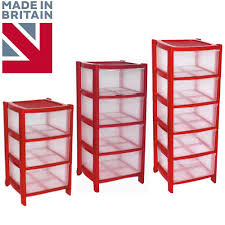 Plastic Drawers On Wheels by Red Drawer Plastic Tower Storage Drawers Chest Unit With Wheels