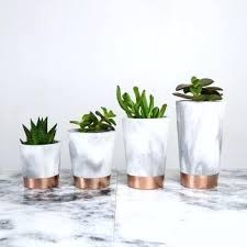 Marble Flower Pot Copper Dipped Marbled Cement Pots And Dips plex