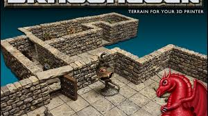 Making 3d Dungeon Tiles by Dragonlock 28mm Scale Dungeon Gaming Terrain By Tom Tullis