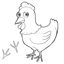 Download Hen With Paw Print Coloring Pages Vector Stock