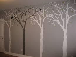 Tree Mural In Greys
