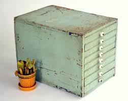 Equipto Modular Drawer Cabinets by Rustic Homemade Wooden Organizer Cabinet Antique Pastel Green 8