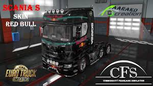 100 Redbull Truck Skin Scania S Red Bull Mod For Euro Simulator 2