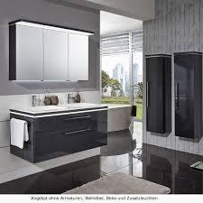 puris cool line badmöbel als doppelwaschtischset 120 cm mit spiegelschrank serie b