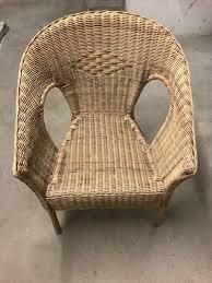 4x ikea sessel stuhl rattan bambus agen