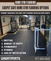 Installing Home Gym Flooring Over Carpet
