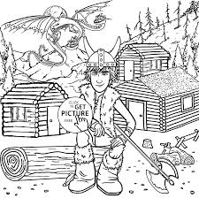Hiccup From How To Train Your Dragon Coloring Pages For Kids Printable Free