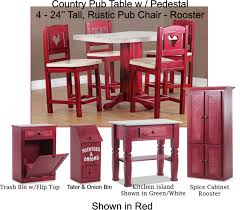 Country Pub Table W/ Pedestal Red | Carolina Tavern Pub Table In 2019 Products Table Sets Sunny Designs Bourbon Trail 3 Piece Kitchen Island Set With Gate Leg Ding Room Shop Now For The Lowest Prices Leons Dinettes And Breakfast Nooks High Top Dinette Just Fine Tables Farm To Love Last Part 2 5 Windsor Back Counter Chairs By Best These Gorgeous Farmhouse Bar Models Buy French Country Sets Online At Overstock Our Add Stylish Rectangular Residential Or Commercial Fniture Lazboy Adorable Small And Standard