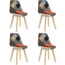 betterlife esszimmerstühle 4 stk patchwork design mehrfarbig stoff