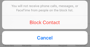 How to block someone from contacting you in iOS