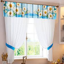 rollos gardinen vorhänge gingham kariert blau weiß küche