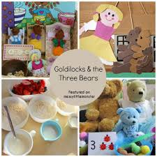 Goldilocks And The Three Bears Art Craft Activities For Preschoolers Toddlers