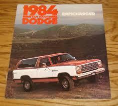 100 Dodge Ram Trucks For Sale Original 1984 Truck Charger Foldout S Brochure 84
