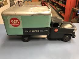 """RARE VINTAGE MARX """"Sears Roebuck & Co"""" Allstate Metal Toy Moving ... Two Guys A Wookiee And Moving Truck Actionfigures Dickie Toys 24 Inch Light Sound Action Crane Truck With Moving Toy Dump Close Up Stock Image Image Of Contractor 82150667 Tonka Vintage Toy Metal Truck Serial Number 13190 With Moving Bed Dinotrux Vehicle Pull Back N Go Motorised Spin Old Vintage Packed With Fniture Houses Concept King Pixar Cars 43 Hauler Dinoco Mack Super Liner Diecast Childrens Vehicles Large Functional Trailer Set And 51bidlivecustom Made Wooden Marx Tin Mayflower Van Dtr Antiques"""