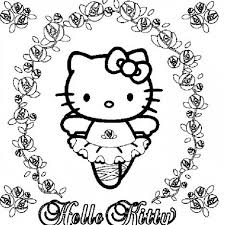 Hello Kitty Coloring Pages 27