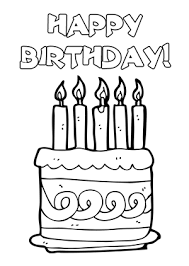 black and white happy birthday clip art 8
