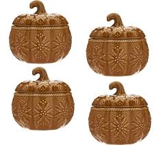 Pumpkin Soup Tureen And Bowls by Temp Tations Old World S 4 12 Oz Pumpkin Covered Soup Bowls