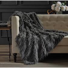 Hotel Soft Faux Fur Throw Walmart